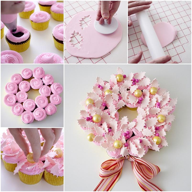 wonderful diy christmas wreath cupcake