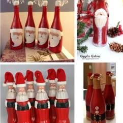 Chair Caps Covers Wedding Reception Wonderful Diy Cute Christmas Bottle Santa