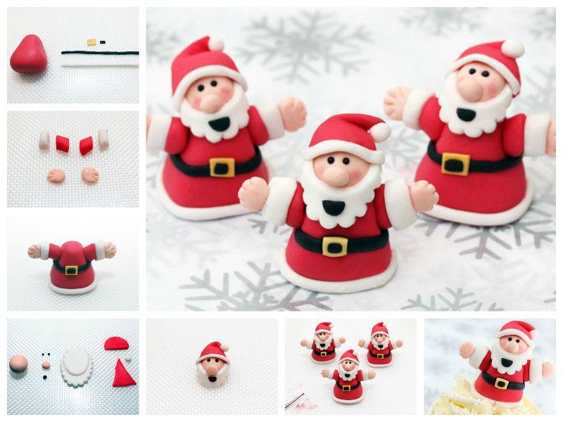 Wonderful DIY Cute Santa Cake Decoration