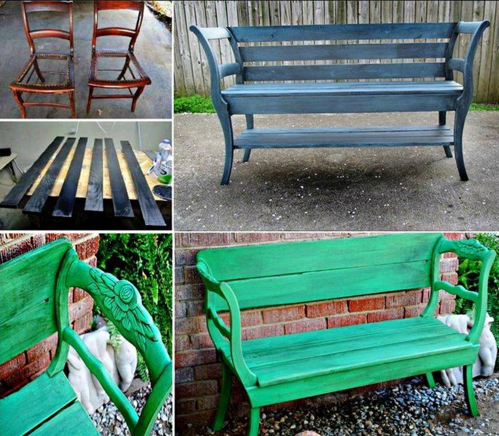 Bench Chairs Wonderful Diy Upcycled Chair Bench