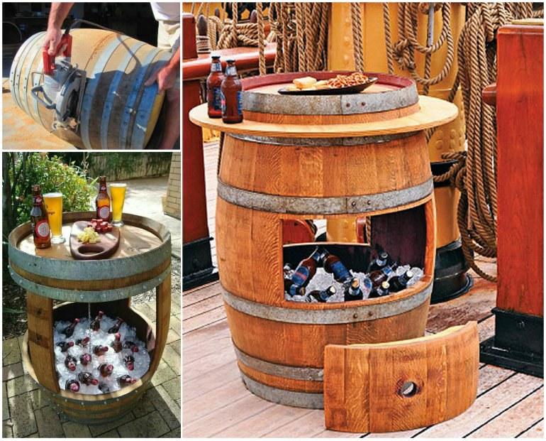 Wonderful Diy Whiskey Barrel Coffee Table