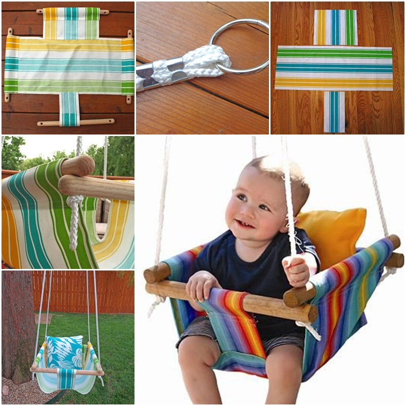 hanging chair for baby tolix style wonderful diy hammock type swing