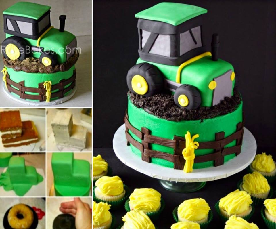 Cool Knife Block Wonderful Diy Cool John Deere Green Tractor Cake