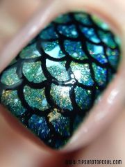 classic mermaid nails art design