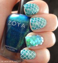 30+ Classic Mermaid Nails art Design
