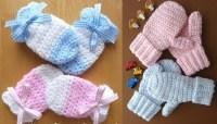 Wonderful DIY Crochet Kids Mitten with Free Pattern
