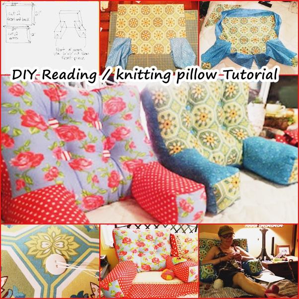 Wonderful DIY Reading  Knitting Arm Pillow