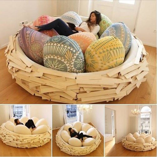 Wonderful Design of Giant Bird Nest Bed