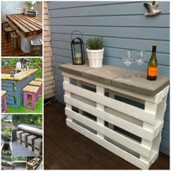 Outdoor Table And Chairs Wood Round Chair Cushions 50 Wonderful Pallet Furniture Ideas Tutorials View In Gallery Diy Bar Stools2