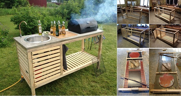 portable outdoor kitchen chrome chairs wonderful diy perfect