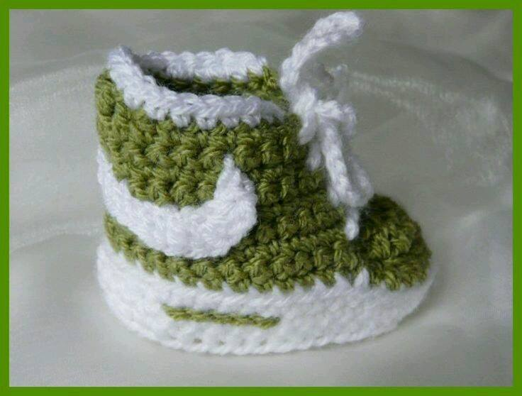 crochet baby booties diagram lighting contactor wiring homemade nike sneakers free patterns and tutorial view in gallery shoes 3