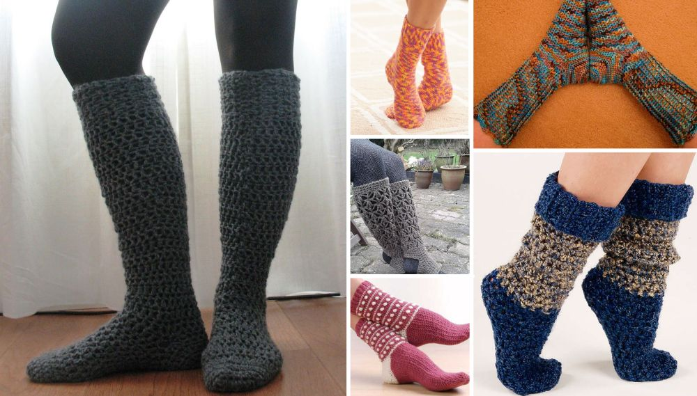 DIY Crochet Socks Help You Fight The Winter Cold