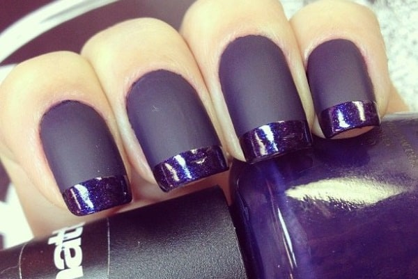 Nails Purple Different Shades