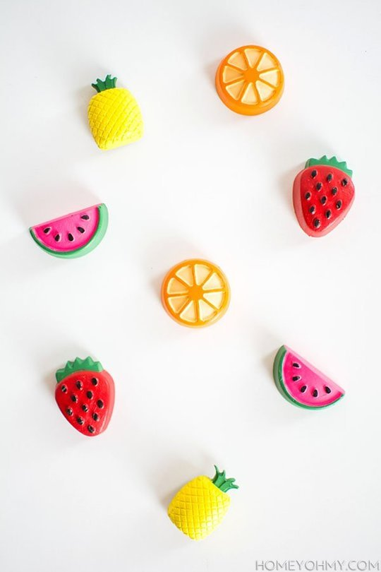 kitchen magnets kid craft diy fridge to spice up your view in gallery mini fruit