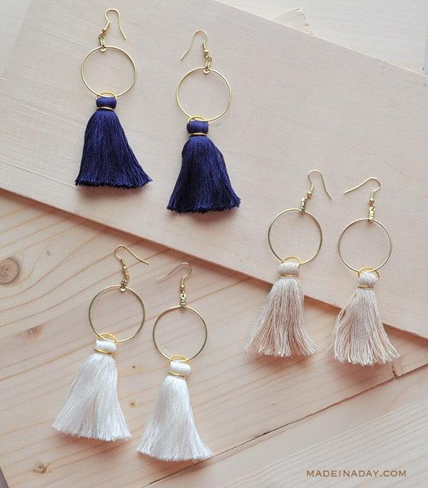 diy hoop earrings the