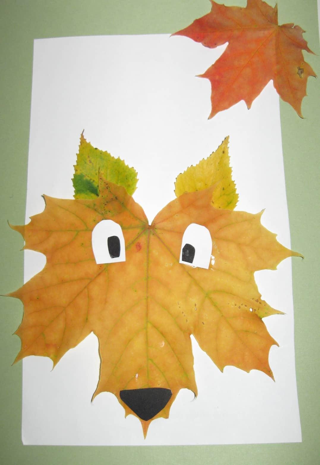 Pretty Crafts Involving Leaves