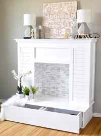 A Stunning Look-Alike: 10 DIY Faux Fireplaces That Look ...