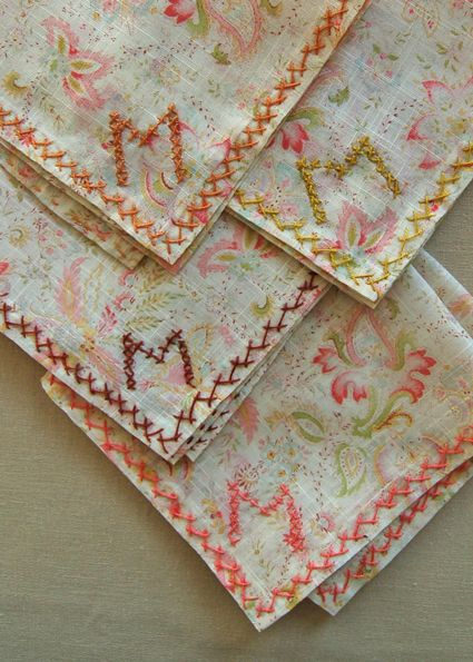 how to embroider a monogram