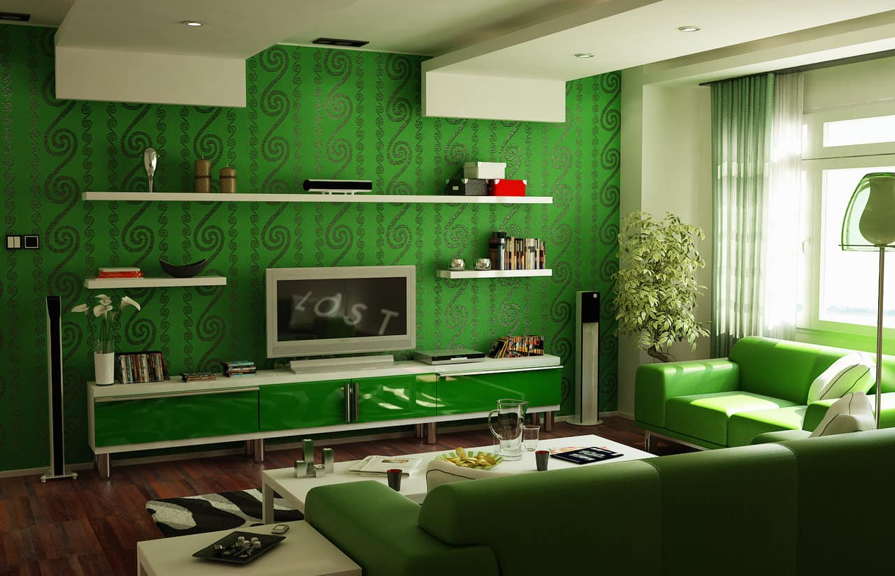 small living room ideas green sectional sofa 15 fun tips for decorating your home with 14 bold greens and patterns