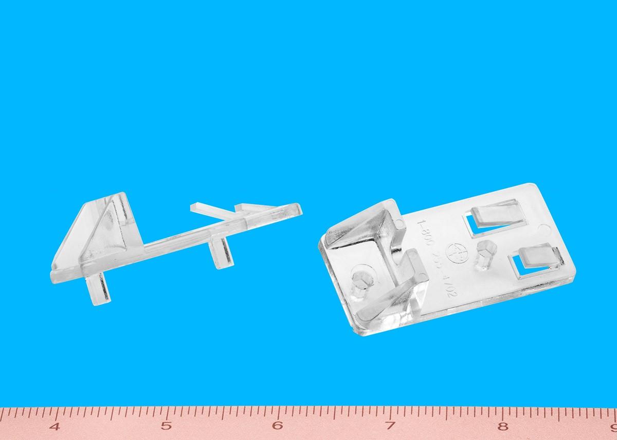 Heavy Duty Locking Shelf Support Double Pin Clear