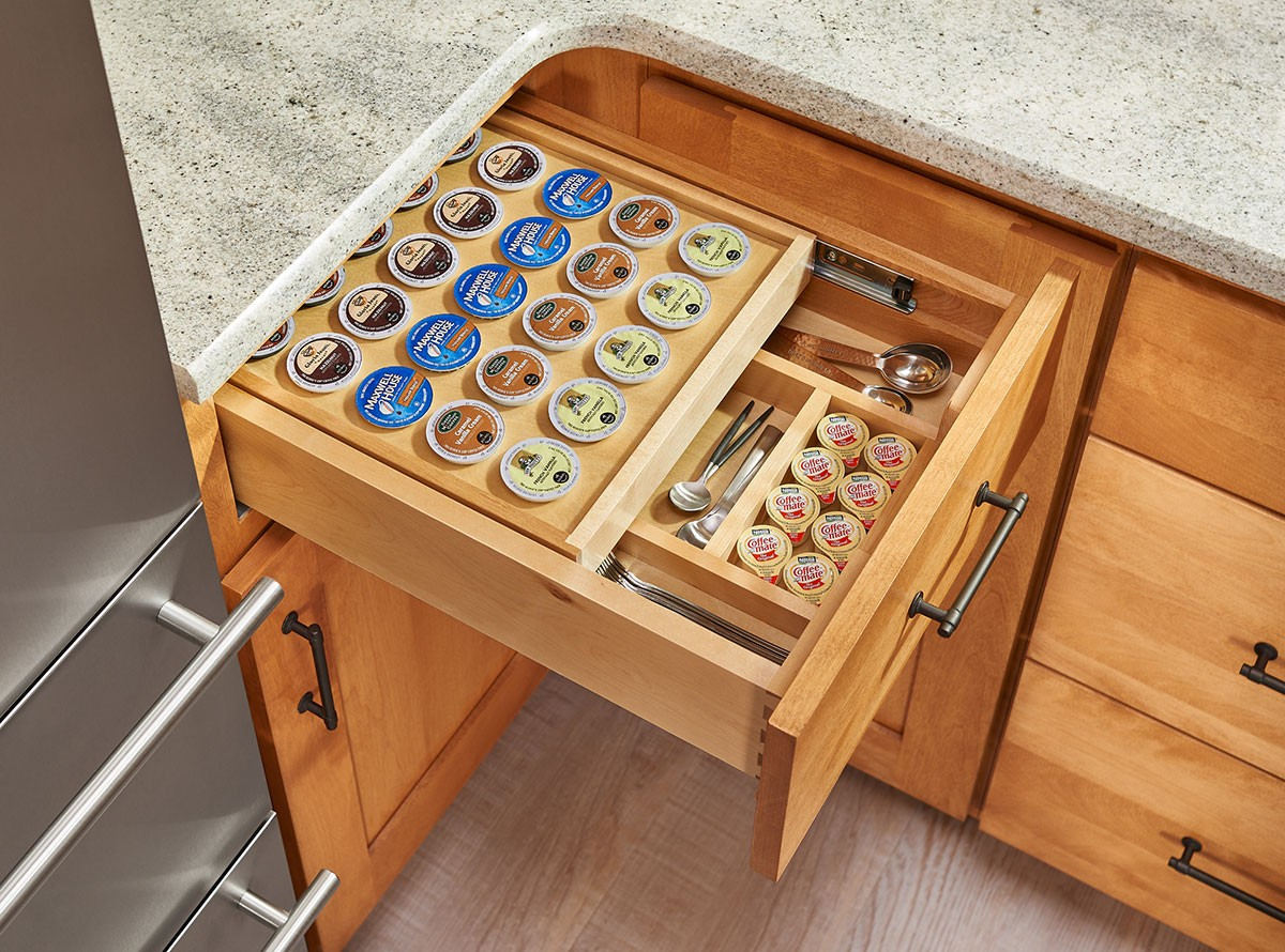 Tiered Soft Close KCUP Drawer for 18 Base Cabinets