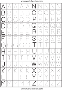Free Alphabet Tracing Worksheets Free Worksheets Library ...