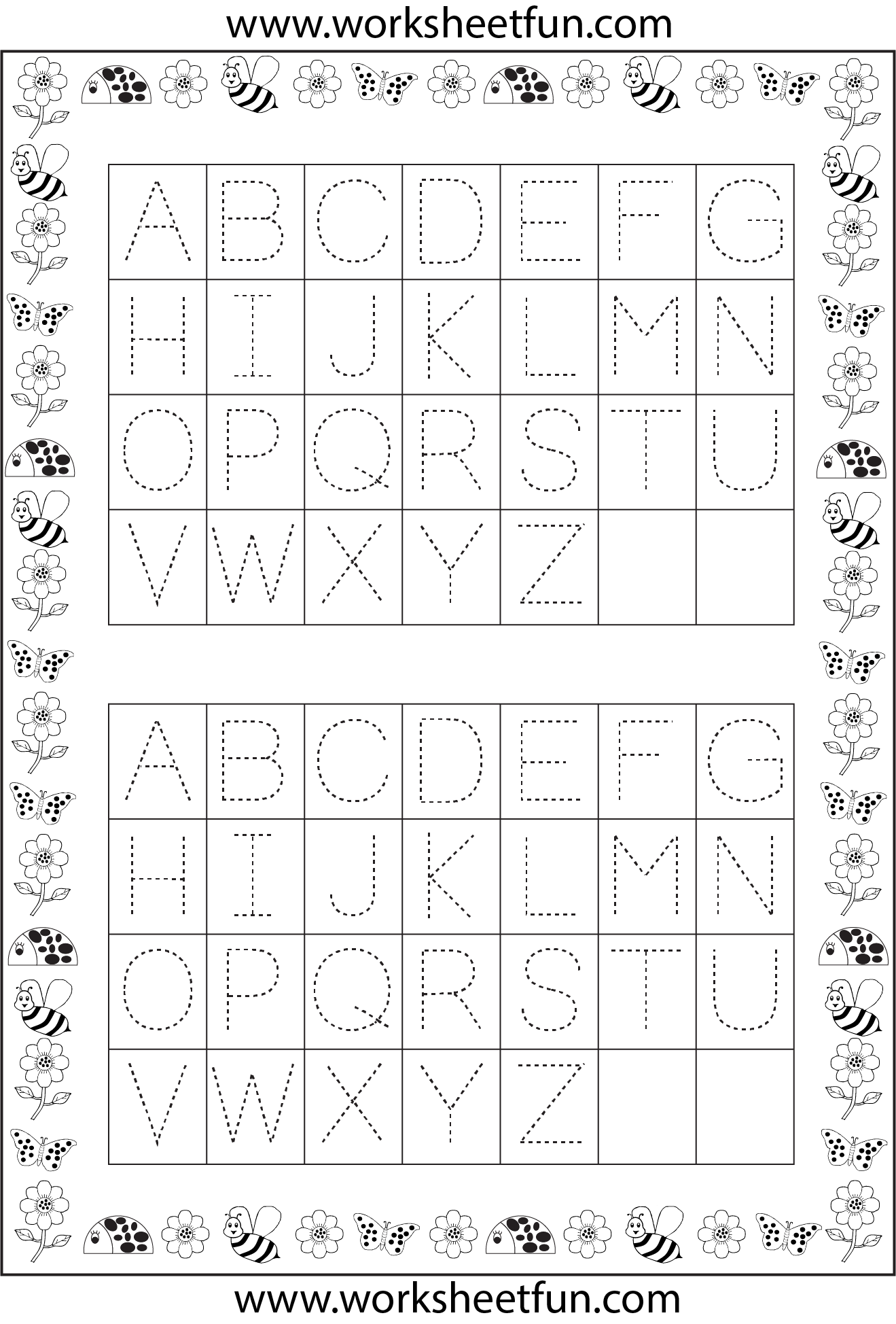 Alphabet Tracing Pages A Z