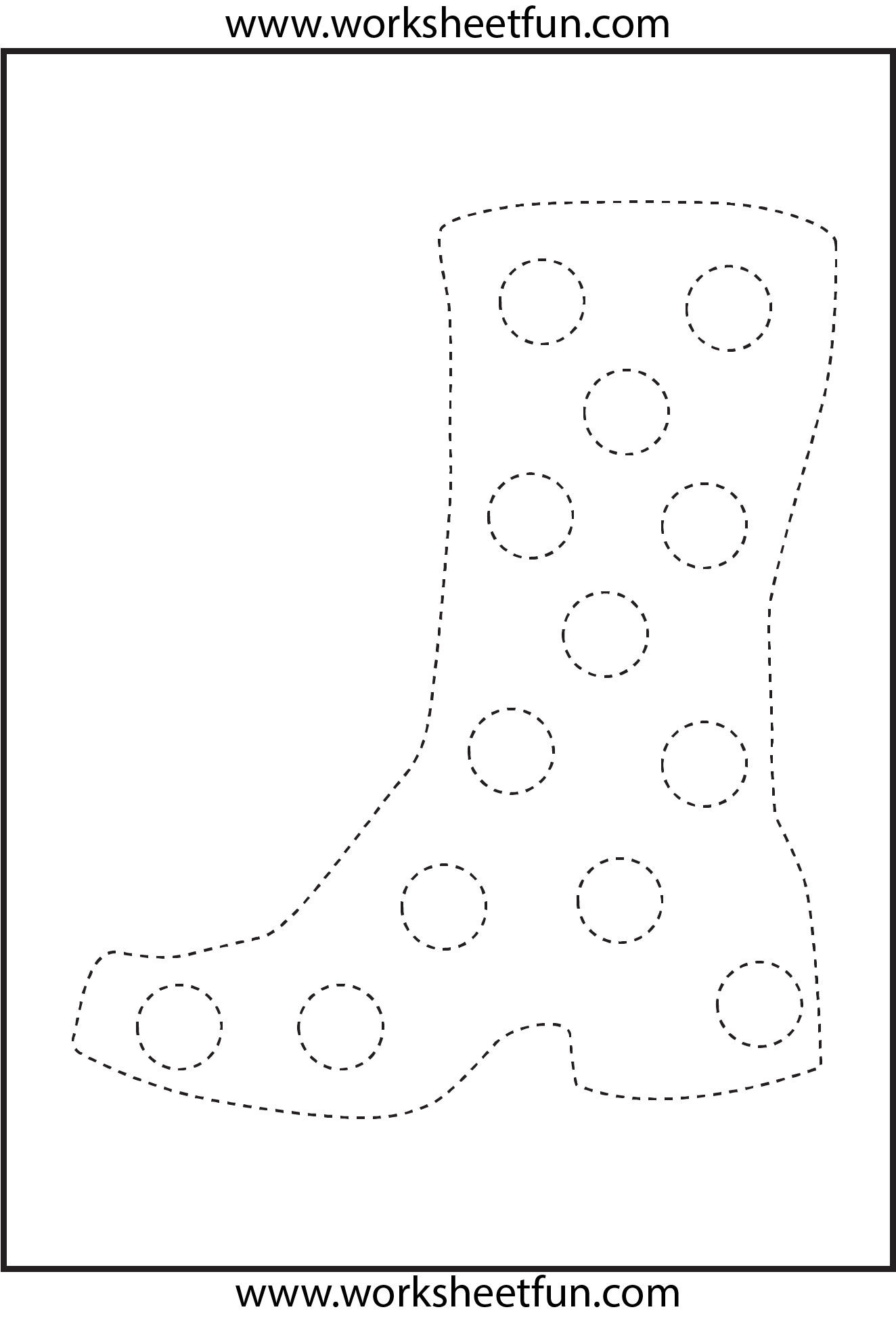 Picture Tracing Boot 1 Worksheet Free Printable Worksheets Worksheetfun