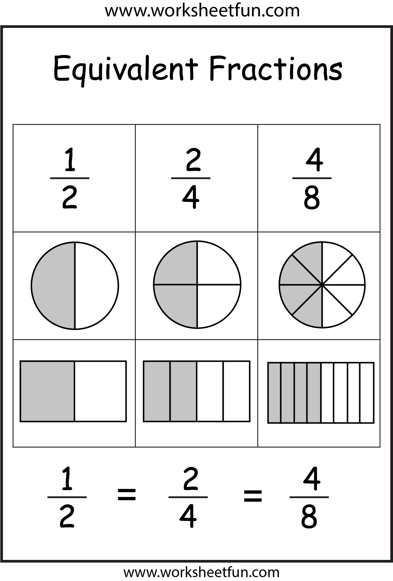 Search Results For Equivalent Fractions Coloring
