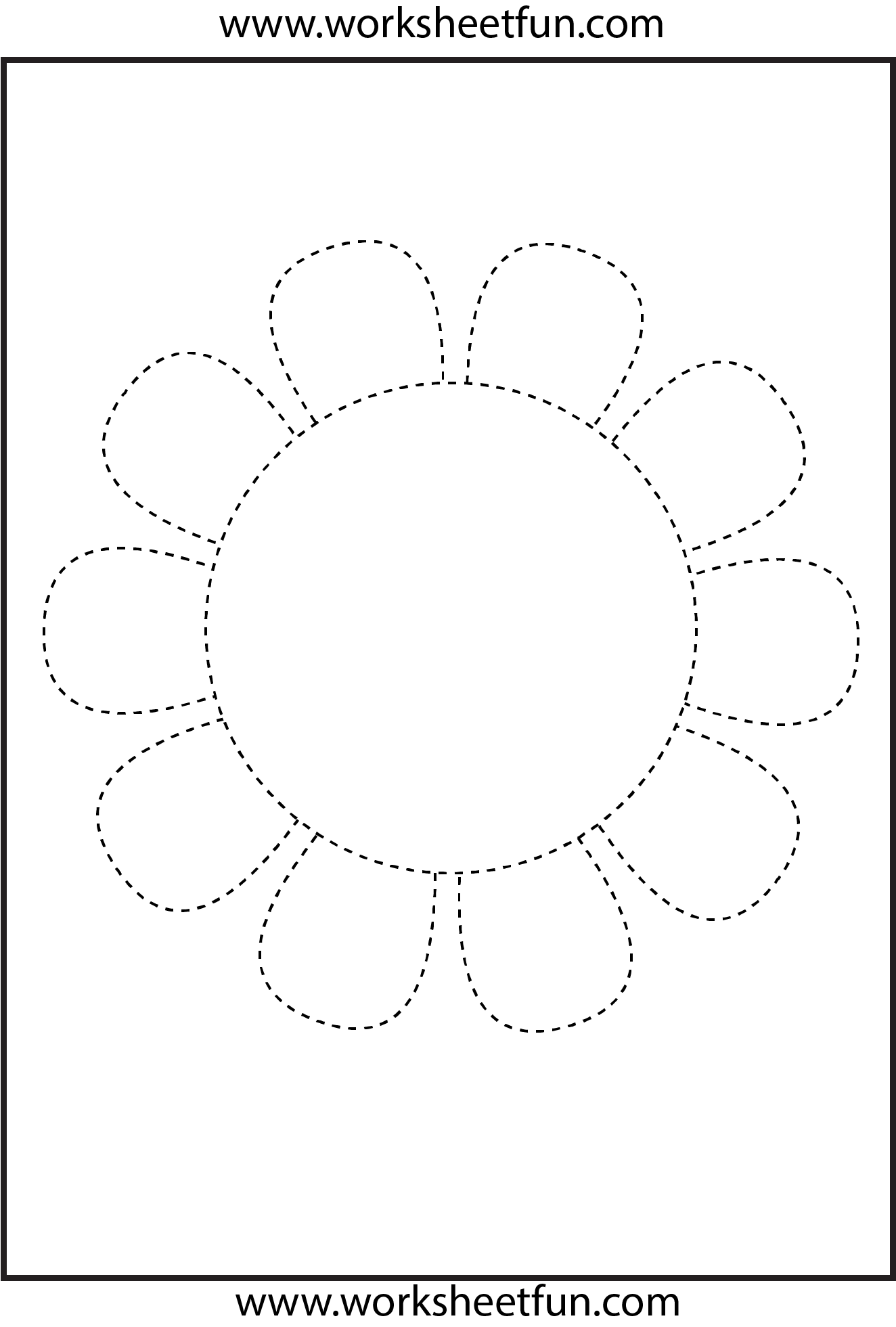 Picture Tracing – Flower