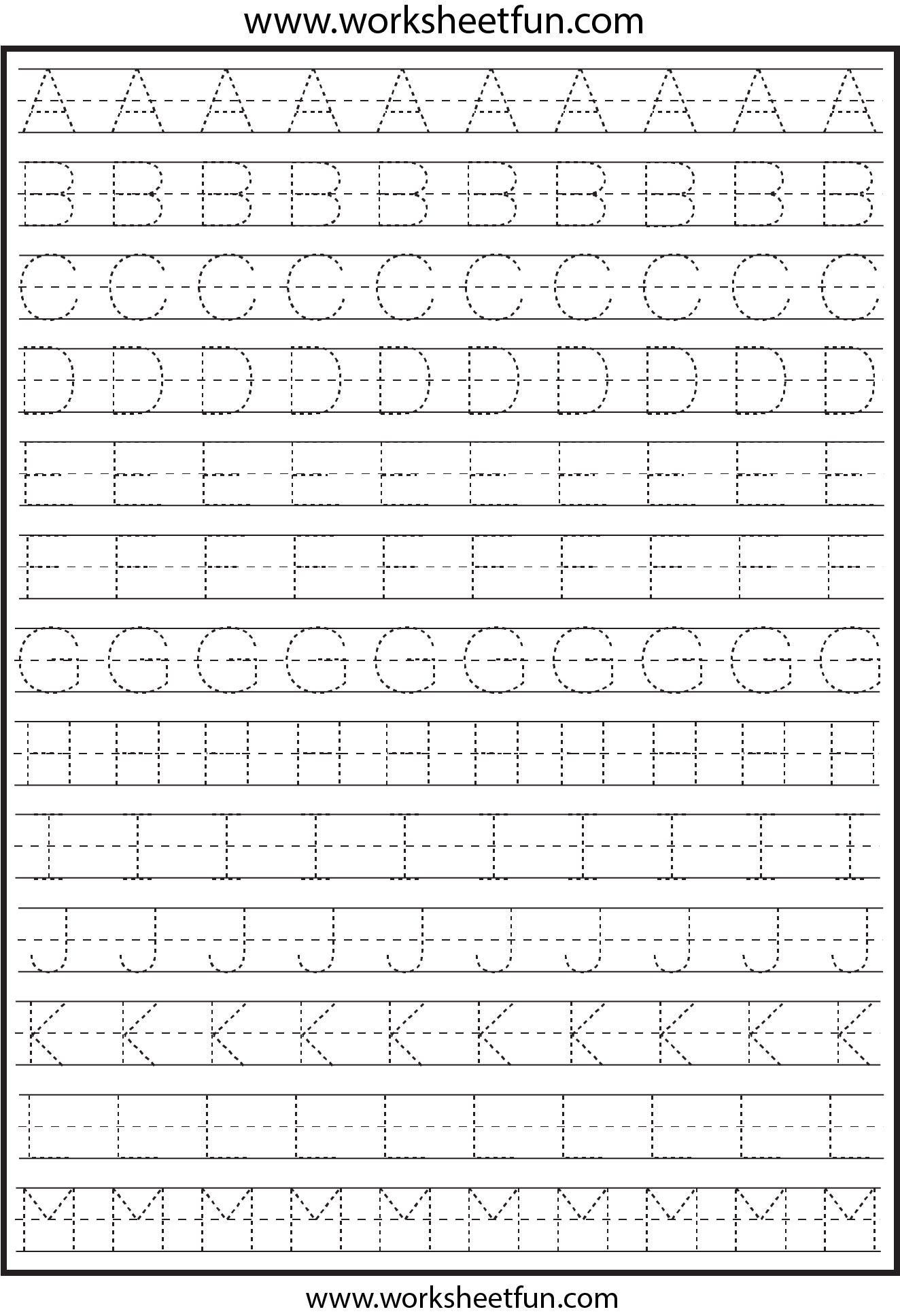 Letter Tracing 2 Worksheets Free Printable Worksheets