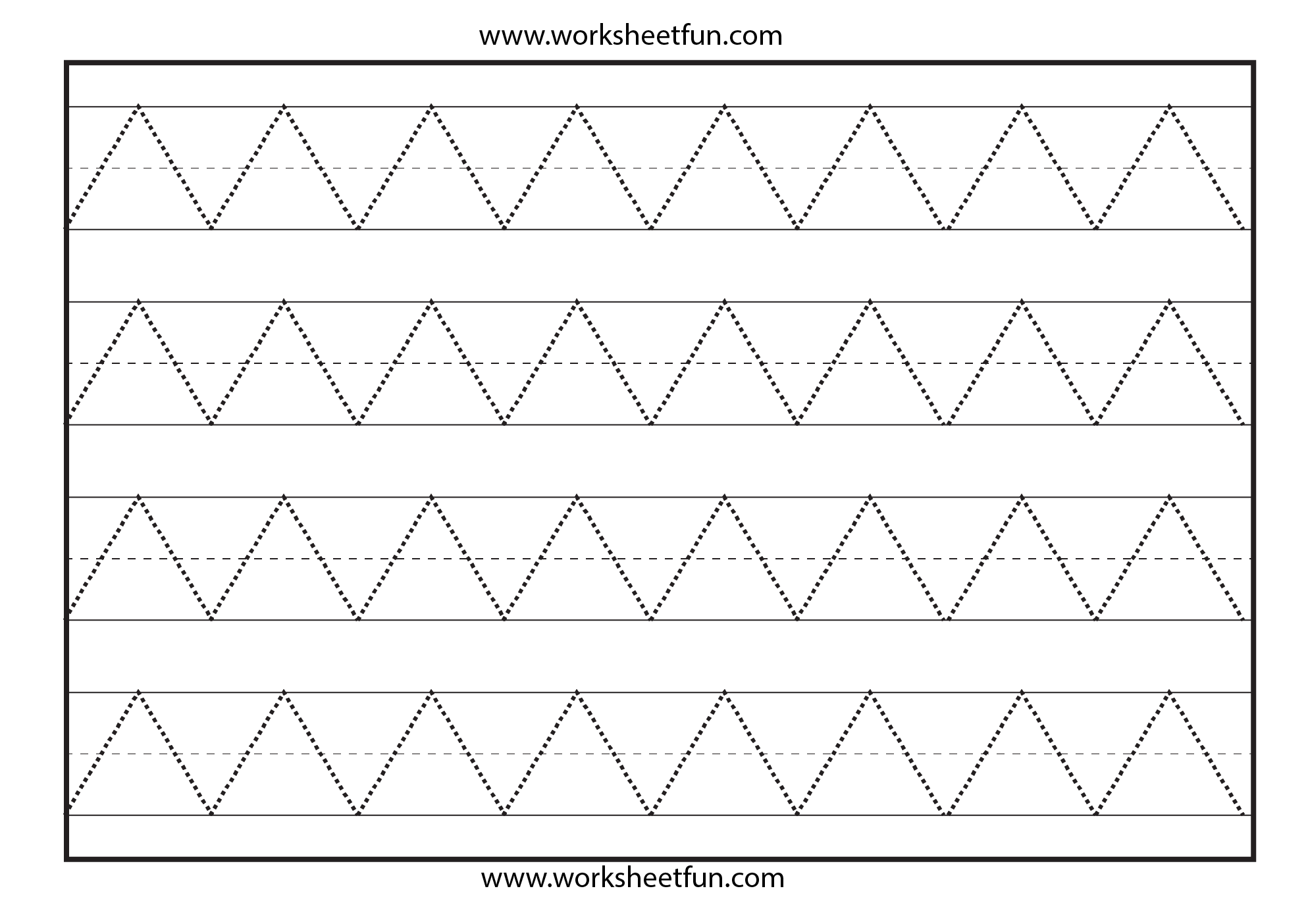 Zig Zag Line Tracing 7 Worksheets Free Printable Worksheets Worksheetfun
