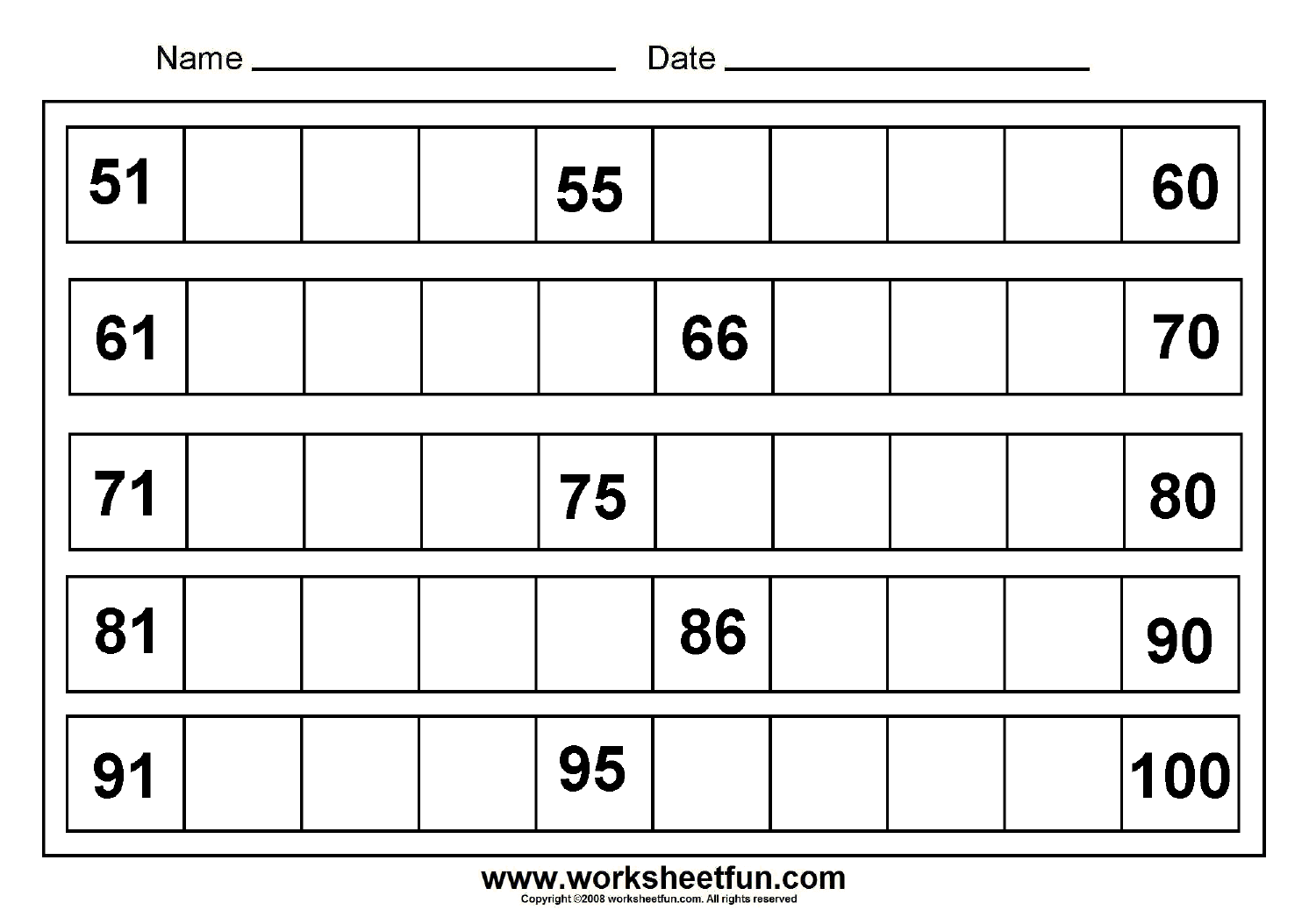 Missing Number Worksheet New 917 Missing Number Worksheets 1 50