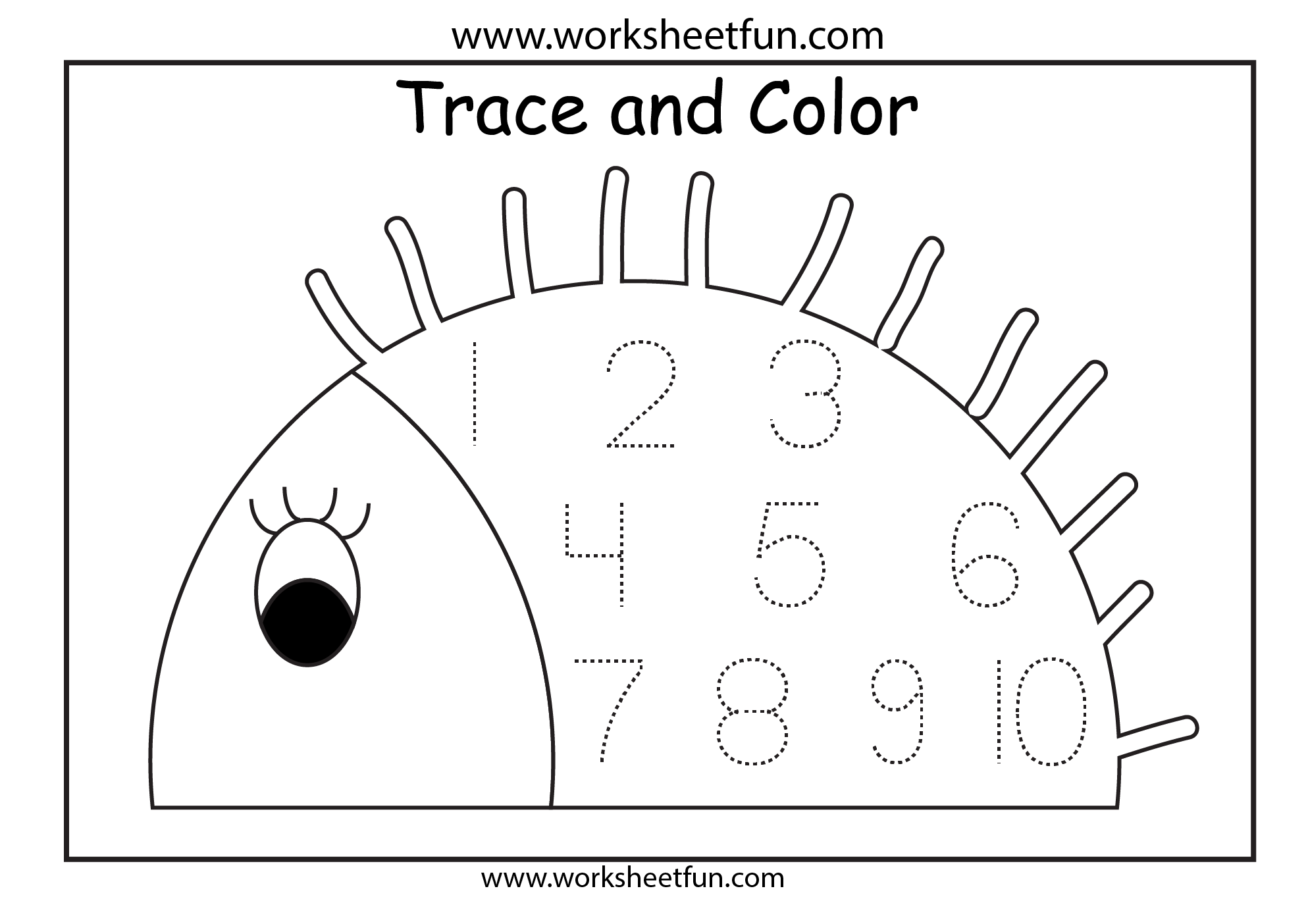 Number Tracing 1 Worksheet Free Printable Worksheets Worksheetfun