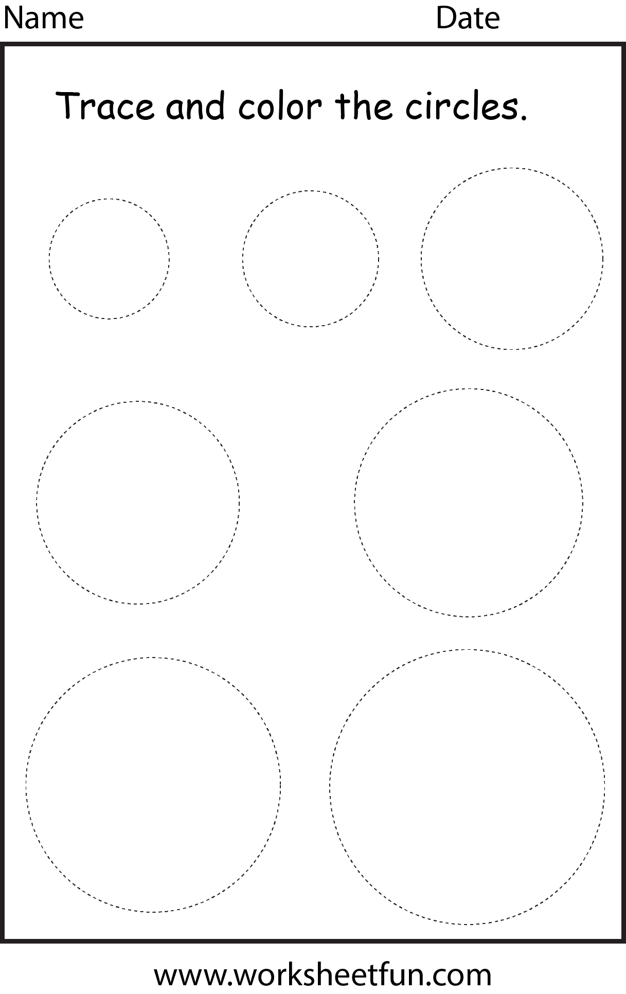 Shape Circle 1 Worksheet Free Printable Worksheets