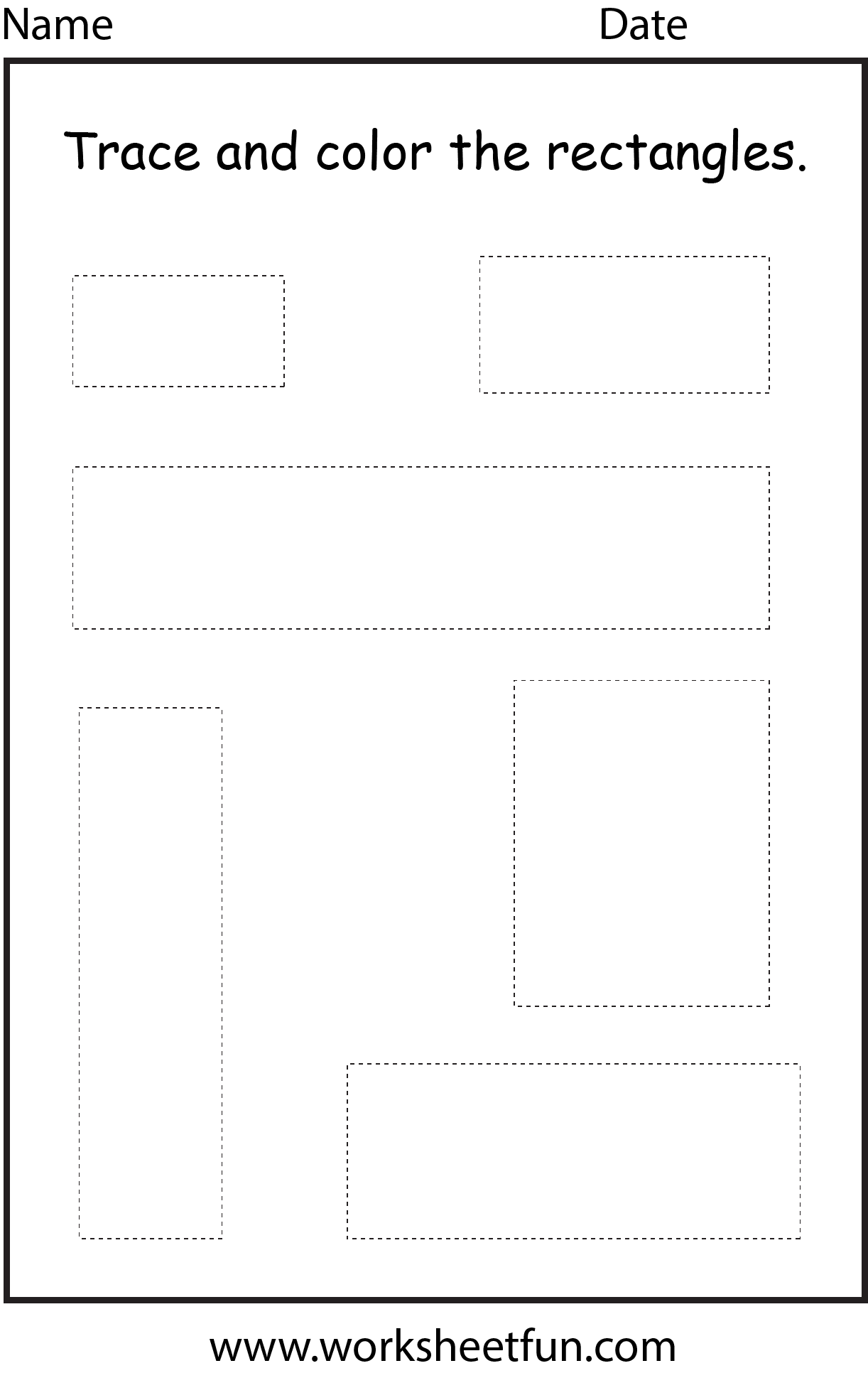 Shape Rectangle 1 Worksheet Free Printable Worksheets Worksheetfun