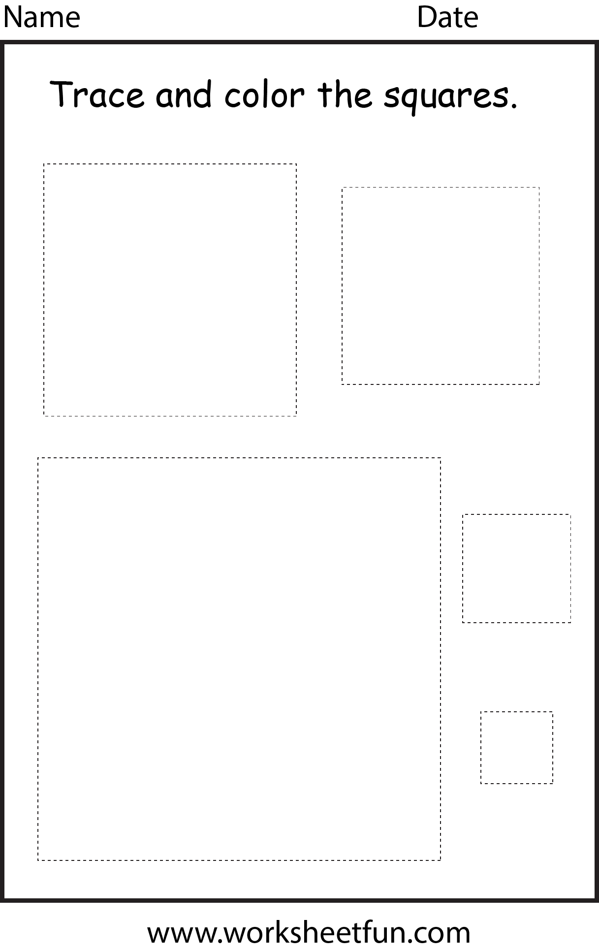 Shape Square 1 Worksheet Free Printable Worksheets Worksheetfun