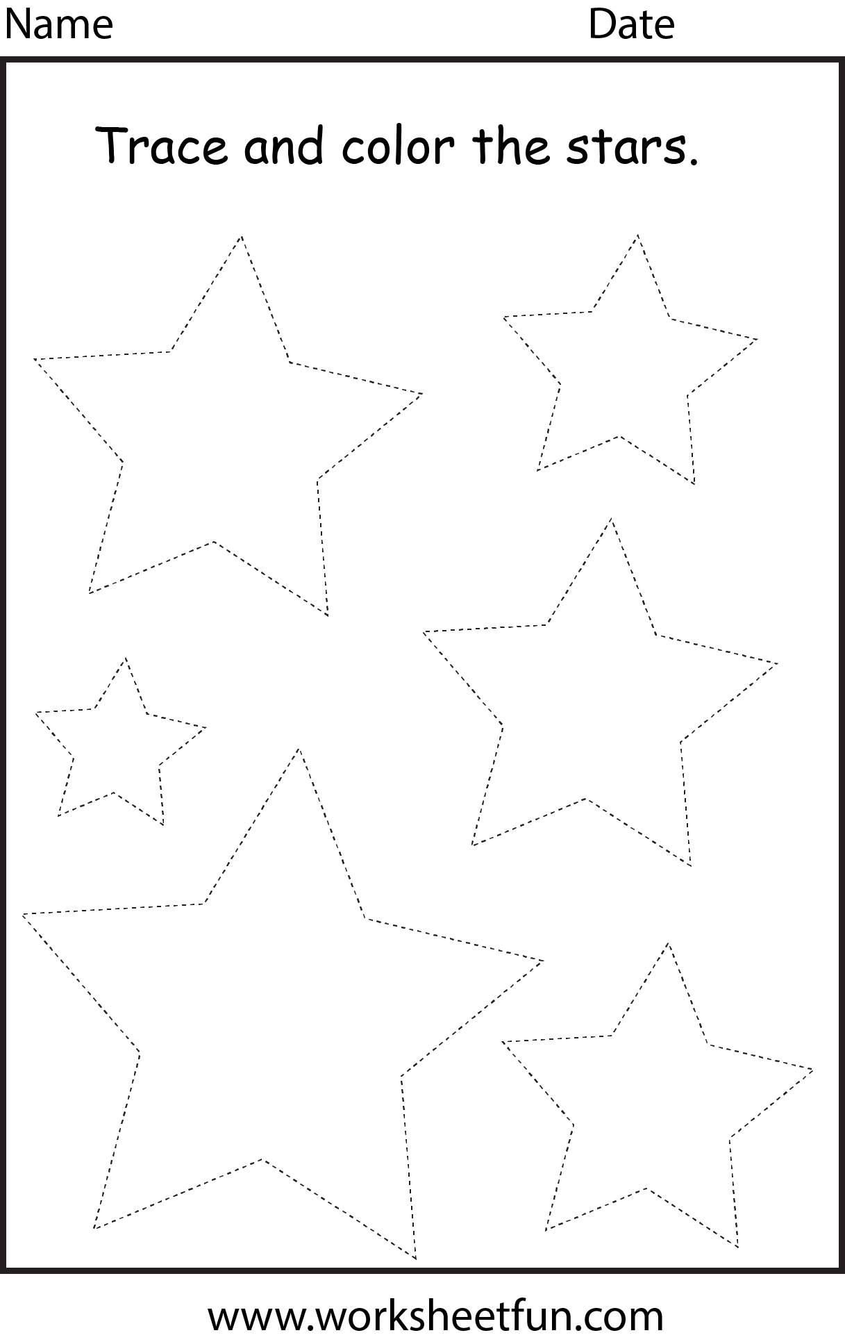 Shape Star 1 Worksheet Free Printable Worksheets