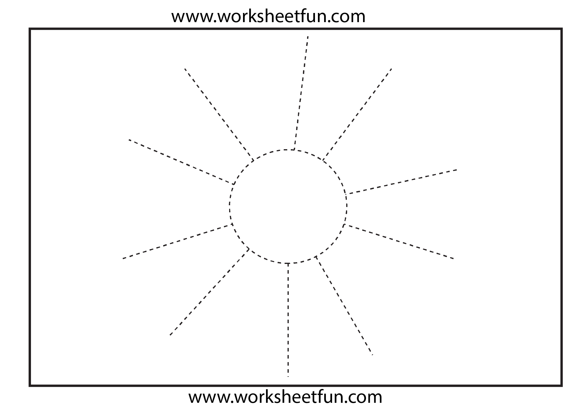Picture Tracing Sun 1 Worksheet Free Printable Worksheets Worksheetfun