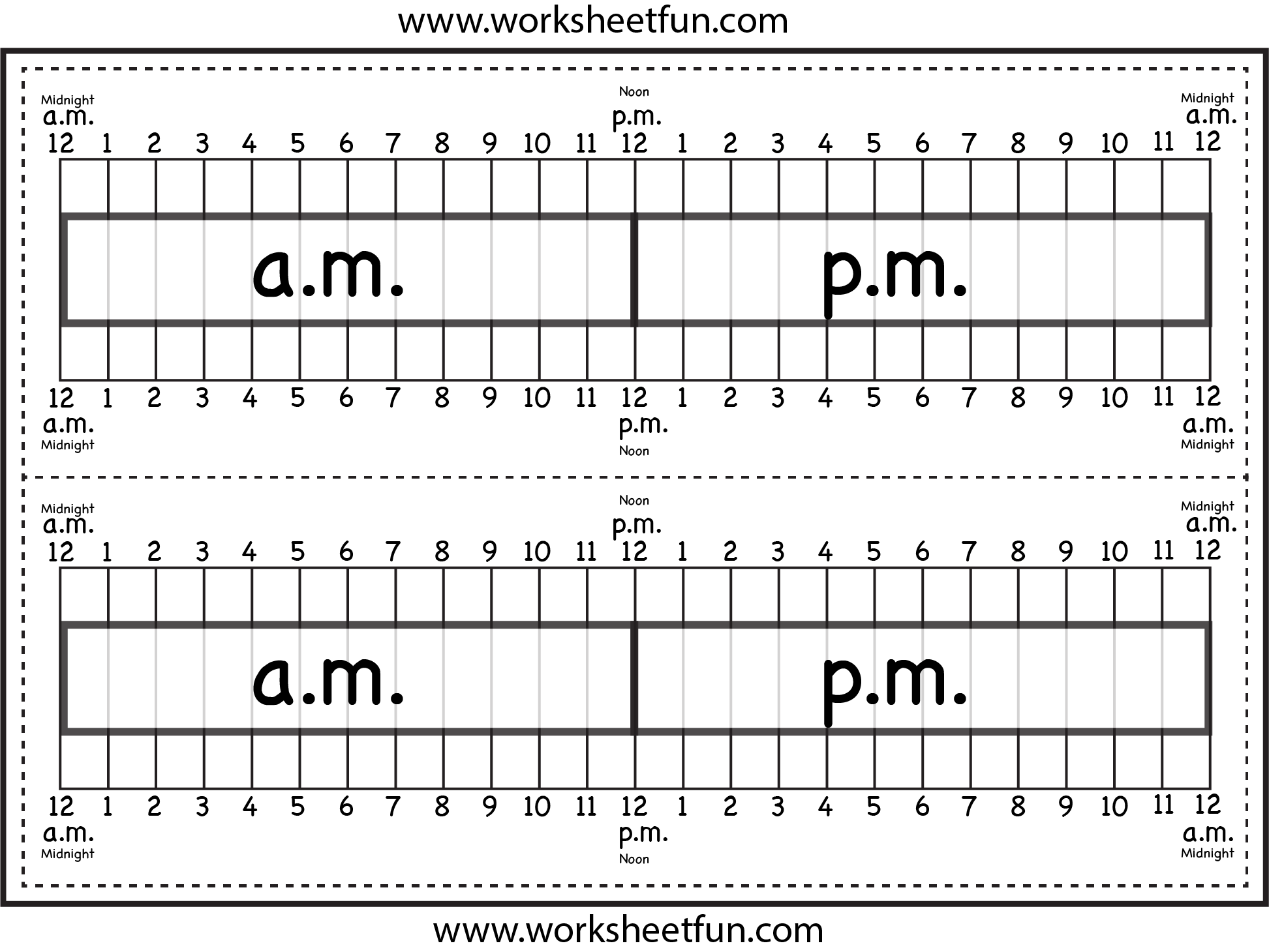 Level 1 Elapsed Time Ruler Two Worksheets Free