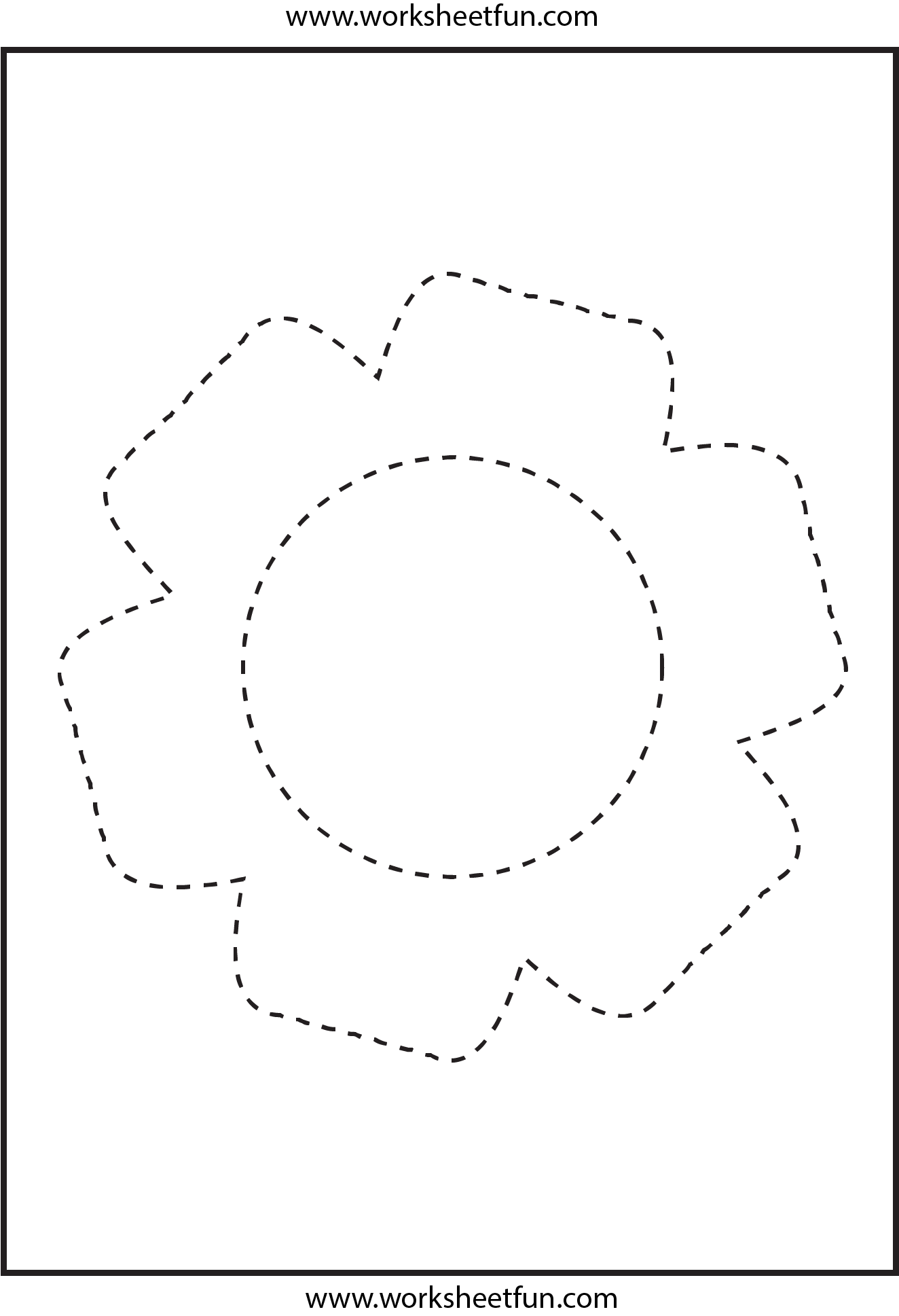 Picture Tracing Flower 1 Worksheet Free Printable Worksheets Worksheetfun