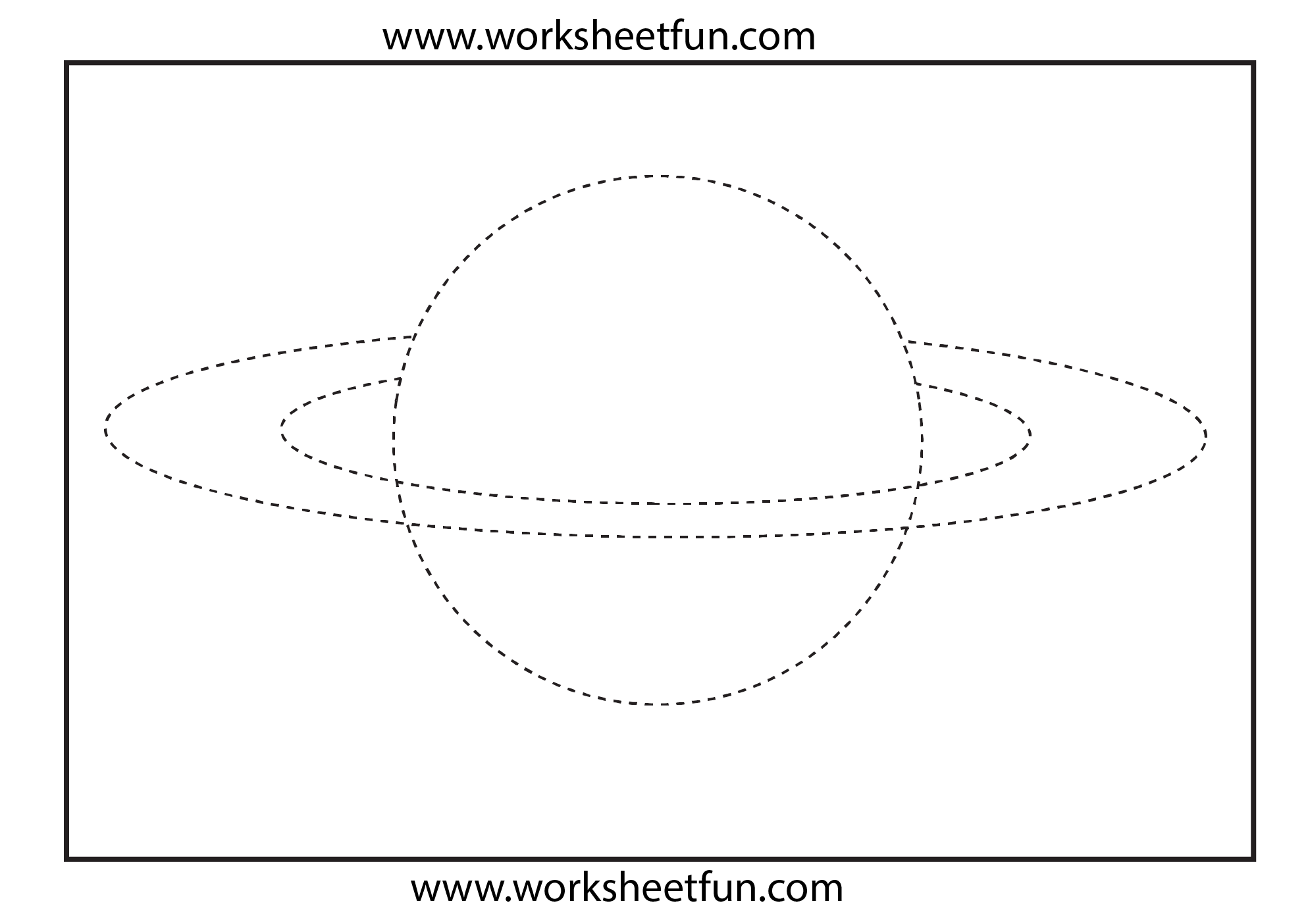 Picture Tracing Planet 1 Worksheet Free Printable