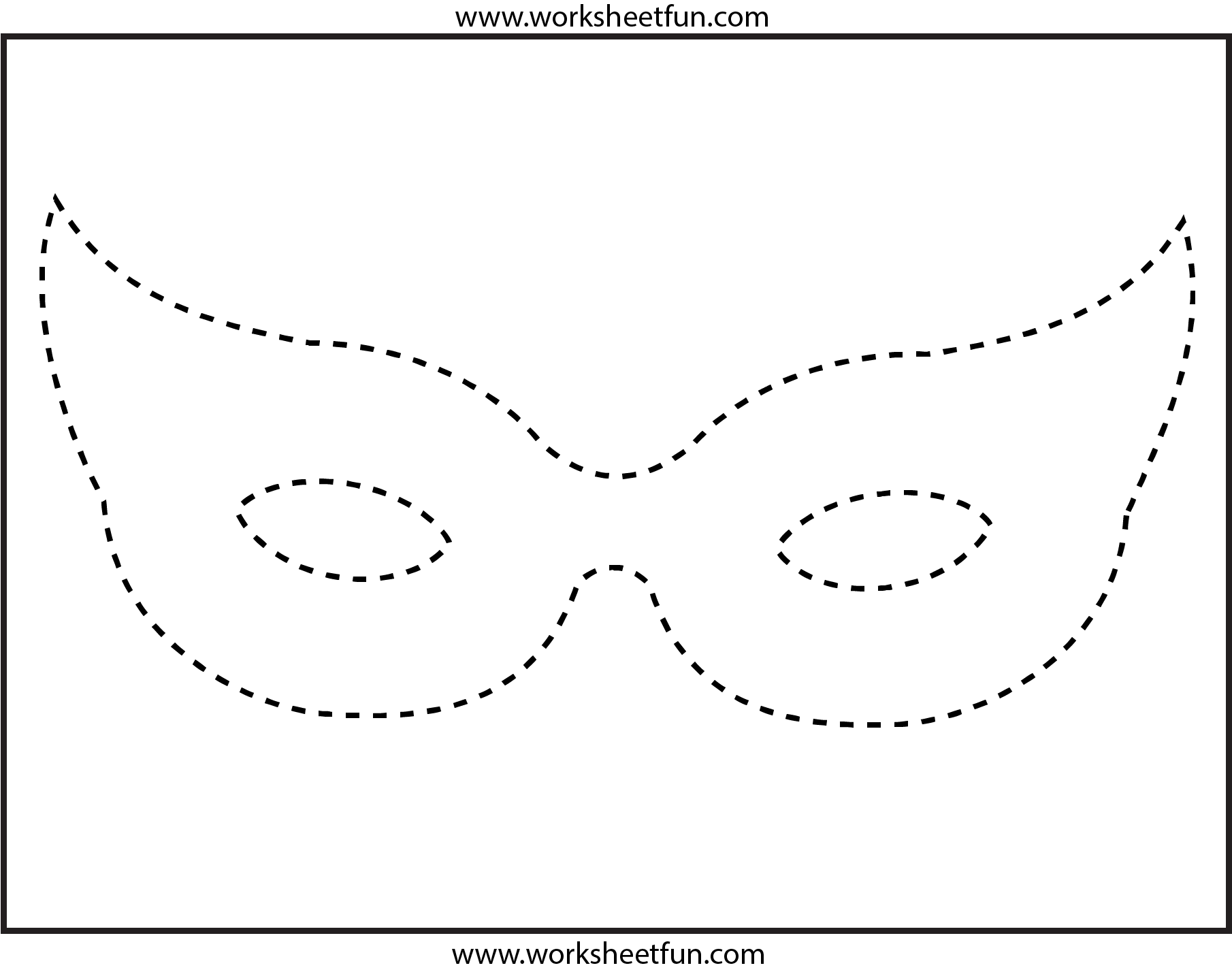 Mask Tracing 1 Worksheet Free Printable Worksheets