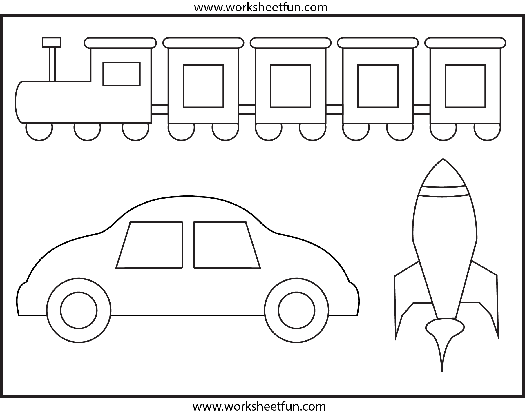 Coloring 1 Worksheet Free Printable Worksheets