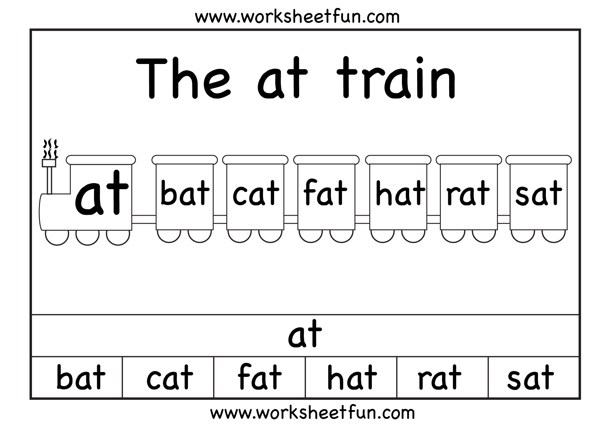 The At Train 1 Worksheet Free Printable Worksheets