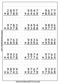 4 Digit Addition With Regrouping – Carrying