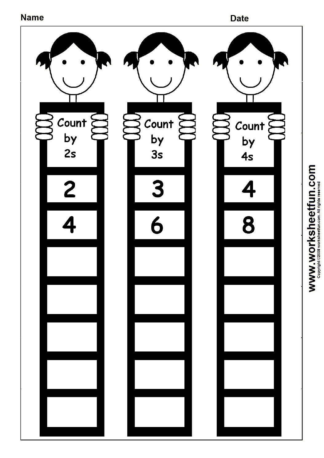Skip Counting By 2 3 And 4 1 Worksheet Free Printable Worksheets Worksheetfun