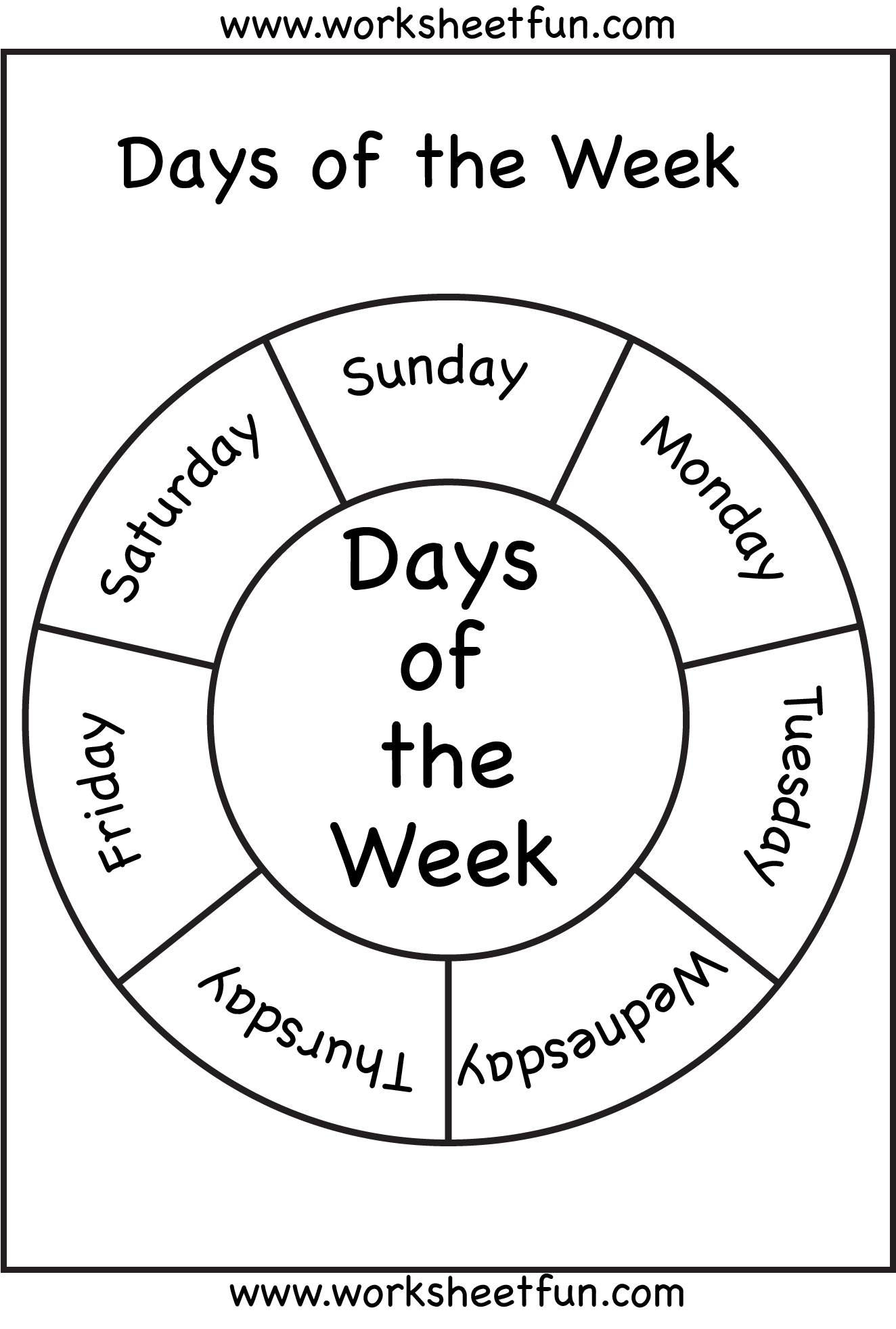 Days of the Week / FREE Printable Worksheets