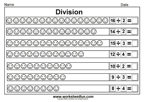 small resolution of Division worksheets for grade 2