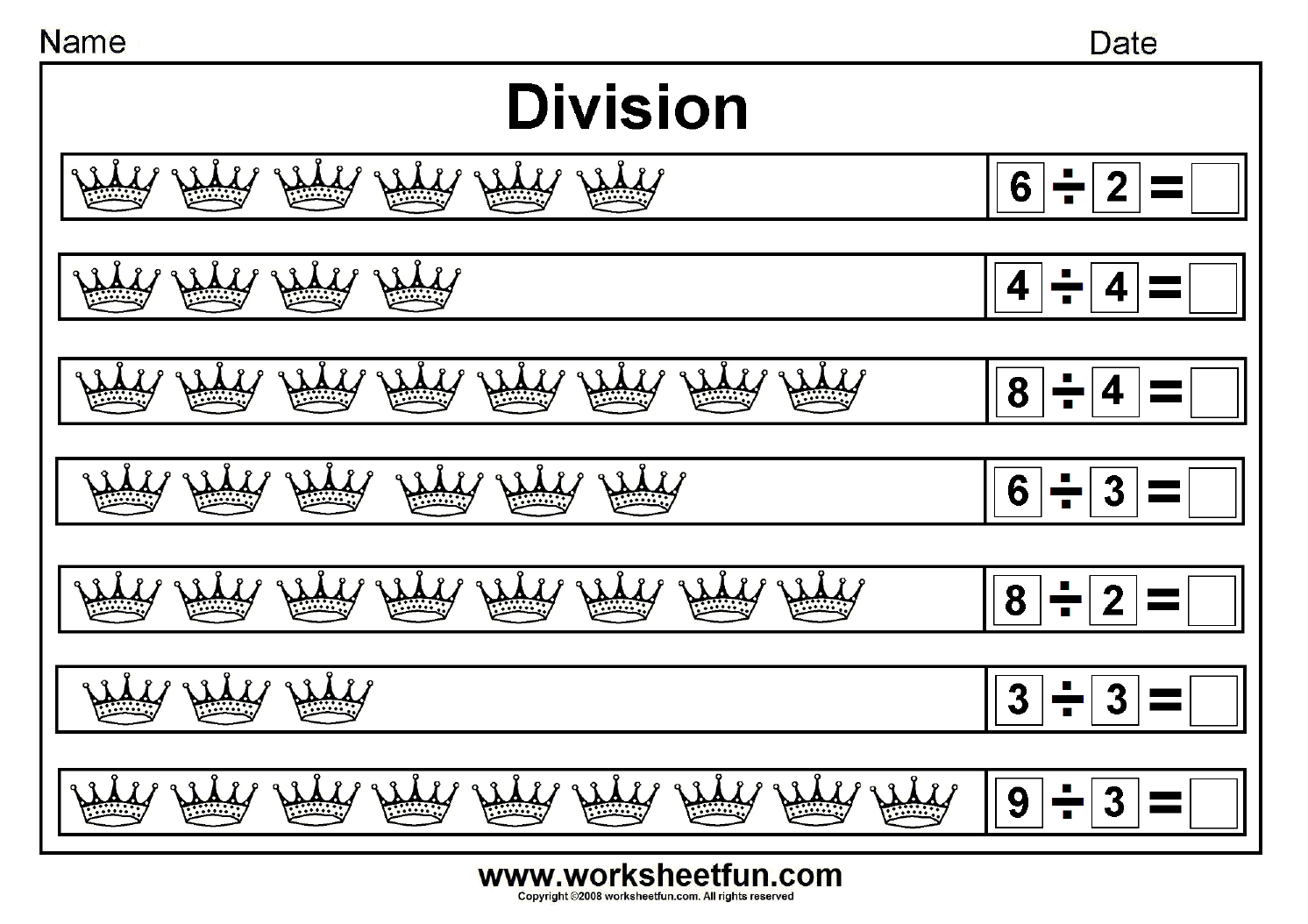 Worksheet About Division For Grade 3